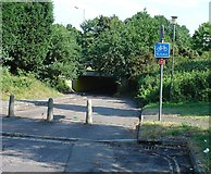 TQ2837 : Cycle Subway (on National Cycle Network Route 20) between Manor Royal Industrial Estate and Northgate, Crawley, West Sussex by Pete Chapman