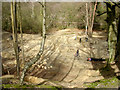 SZ3197 : Old quarry at Buckland Rings being used by mountain bikers by Jim Champion