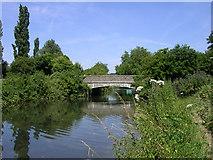 SU4828 : Tun Bridge, St Cross, Winchester by Jim Champion