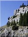SJ2347 : Limestone escarpment - World's End by alan smethurst