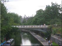 TQ2883 : Regents Canal at London Zoo with the Aviary by Jack Hill