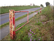 SU1242 : Gate on the A344 east of Stonehenge by Jim Champion