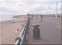 TQ2704 : Sea front near the boating lake by Nigel Freeman