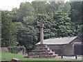SK5351 : Bottom Cross, Linby Village by Tom Courtney
