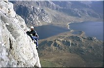 NG9777 : Climber on top pitch of Fionn Buttress by Doug Lee