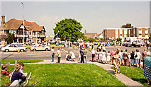 TQ5704 : Polegate crossroads and carnival procession 2 by Andrew Huggett