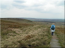 SD9834 : Pennine Way, Dick Delf Hill by Dave Dunford