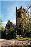 SJ4586 : St Nicholas, Halewood by S Parish