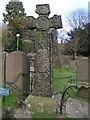 SK2176 : Celtic Cross, Eyam churchyard by Dave Dunford
