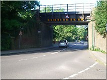 TQ1563 : Railway bridge over Hare Lane, Claygate by Andrew Longton