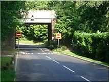 TQ1461 : Railway bridge over Heath Road by Andrew Longton