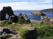 NG4074 : Duntulm Castle by Peter Trant