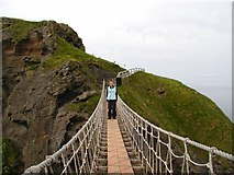 D0644 : Carrick-a-rede rope bridge by Kenneth  Allen