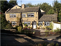SE1321 : Cottages at Delf Hill, Rastrick by Humphrey Bolton