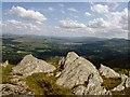 SH6745 : Rocks on the summit of Moel yr Hydd by Rudi Winter