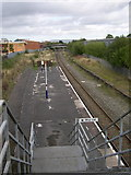 SJ8993 : Reddish South Railway Station by Eifion Bedford