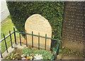 SK2381 : Little John's grave at parish church of St Michael in Hathersage by Mick Garratt
