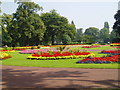 SO9099 : Formal flower beds, West Park, Wolverhampton. by Martyn B