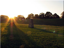SU1070 : Sunset in the north western section of Avebury by Pam Brophy