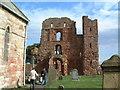 NU1241 : Lindisfarne Priory by Steve McShane