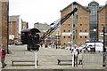 SO8218 : Steam Crane,  Gloucester Docks by Crispin Purdye