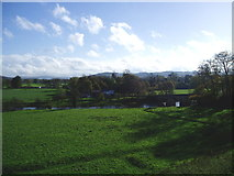 SD7138 : View across the Ribble at Great Mitton by Charles Rawding