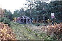 NJ3165 : Nissen Hut near rifle range by Iain Macaulay