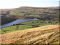 SE0410 : View over Butterley Reservoir, Marsden by Humphrey Bolton