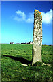 HY7552 : Holland House standing stone. North Ronaldsay. by Peter Ward