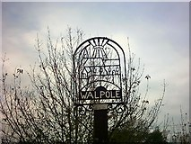 TM3674 : Walpole Sign by Adrian Cable
