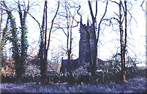SJ8481 : Graveyard and Church of St. Bartholomew, Wilmslow. by Peter Ward