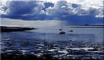 NU1341 : Blue mood, Lindisfarne by Lynne Kirton