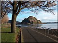 NS3974 : Dumbarton Rock from Levengrove Park by Andrew McEwan