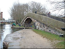 SJ9398 : Junction of the Peak Forest, Ashton and Huddersfield Narrow Canals. by Nigel Homer