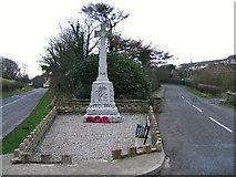 NX0054 : The war memorial at Portpatrick. by Colin McDonald