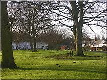 NZ2115 : Village green, Piercebridge, County Durham by Oliver Dixon
