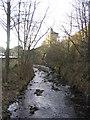 SE1408 : River Holme at Holmfirth by Sue Trescott