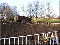 SE1321 : Horses' Field, Delf Hill Rastrick, Christmas Day 2005 by Humphrey Bolton