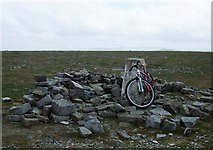 NY6834 : Cross Fell summit by michael ely