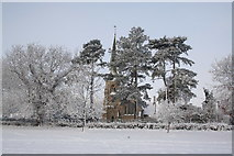 SK8770 : All Saints' church in the snow by Richard Croft