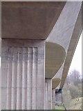 NY2824 : A66 road bridge over river Greta near Keswick by Tim Leete