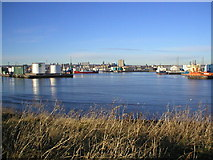 NJ9505 : Aberdeen Harbour from Greyhope Road by Richard Slessor