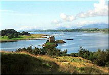 NM9247 : Castle Stalker with Lismore Island in the background by Christopher Bruce