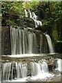 SH8161 : Waterfall near Coed y brain by Nigel Williams
