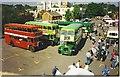 SU8650 : Vintage Bus Gathering at Aldershot Railway Station. by Colin Smith