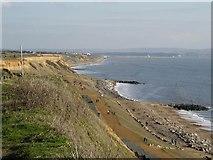 SZ2492 : Cliffs at Barton on Sea by Peter Jordan