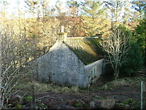 NG4162 : Derelict croft house near Balnaknock by Dave Fergusson