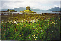 NM9247 : Castle Stalker from the East. by Colin Smith