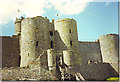 SH5831 : Harlech Castle, Round Towers and Gate. by Colin Smith