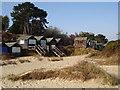 SZ0383 : Beach Huts at Studland Bay by peter lloyd